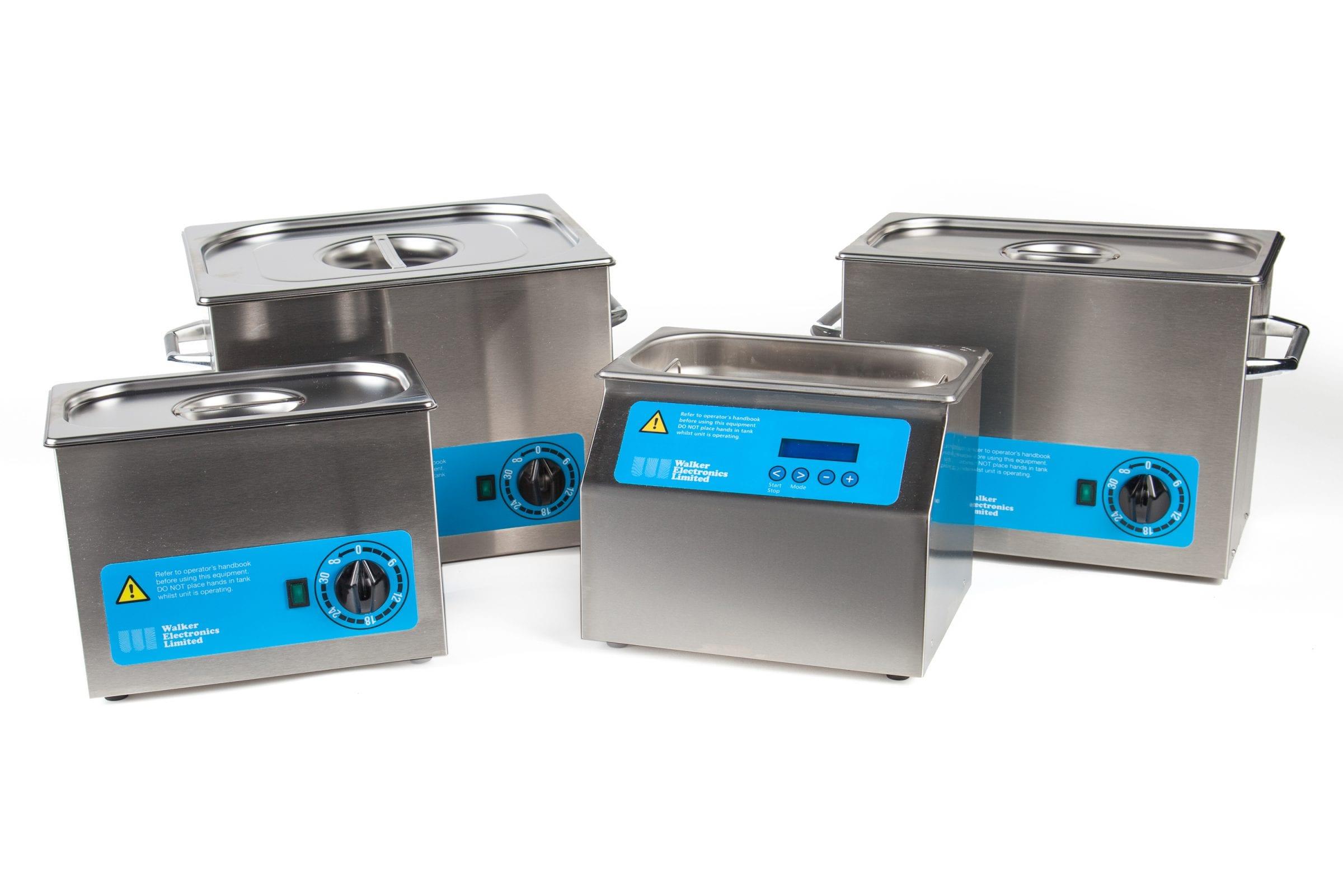 Ultrasonic Cleaning Baths from Walker Electronics