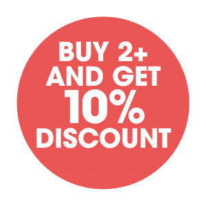 Bu 2+ and get 10% discount