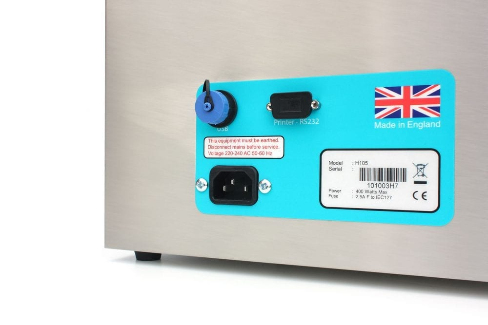 H105 - HTM0105 compliant ultrasonic cleaning bath