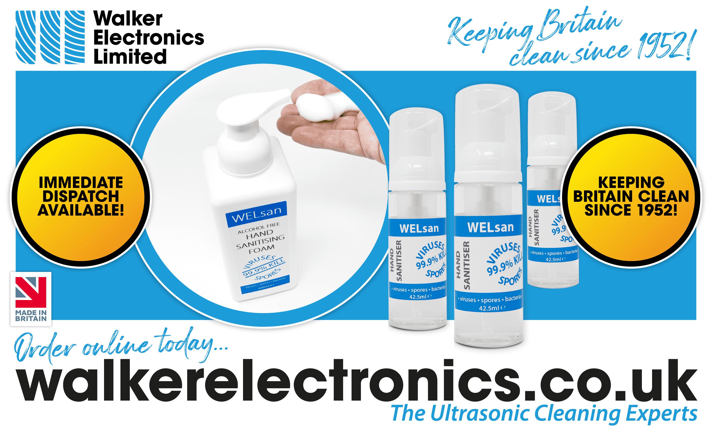 WELSan Hand Sanitiser from Walker Electronics Ltd